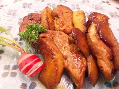 豚肉と林檎のバルサミコ焼き