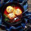 鶏むね肉とおからの煮込みハンバーグ