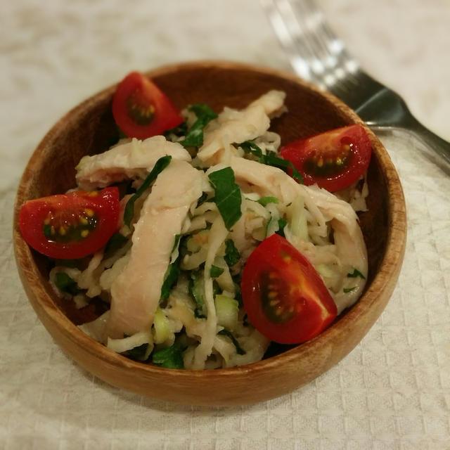 切干大根と梅のサラダ~豆乳マヨネーズ