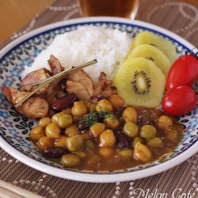 子どもと一緒に♪作りやすいはじめてのタイ料理(簡単豆カレーと鶏肉のソテー)☆スパイスでお料理上手 人気のタイ料理をおうちで作ろう!