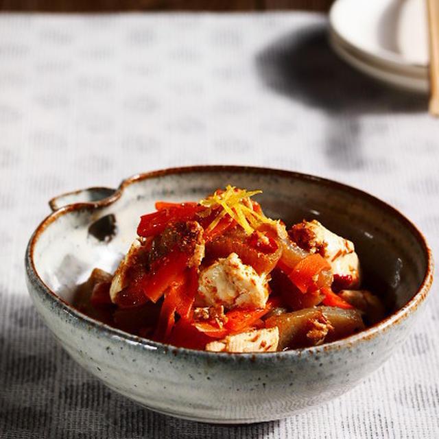 豆腐とこんにゃくの炒り煮