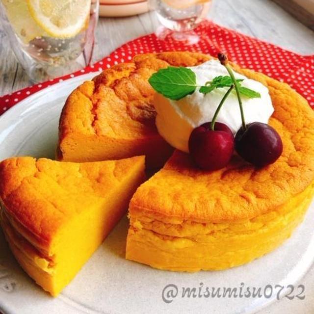 お砂糖なし南瓜チーズケーキ【ベイクドチーズケーキ】(動画有)