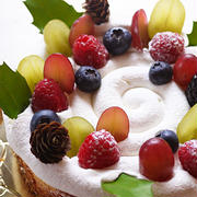 クリスマスケーキの予行練習的チーズケーキ