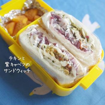 鶏むね肉で作るボリューム満点!サンドイッチ弁当