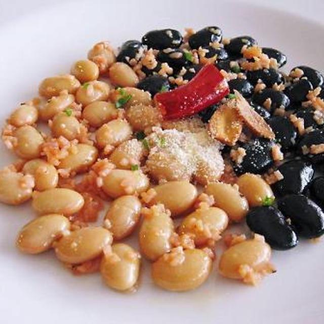蒸し豆のアーリオ・オーリオ・ペペロンチーニ
