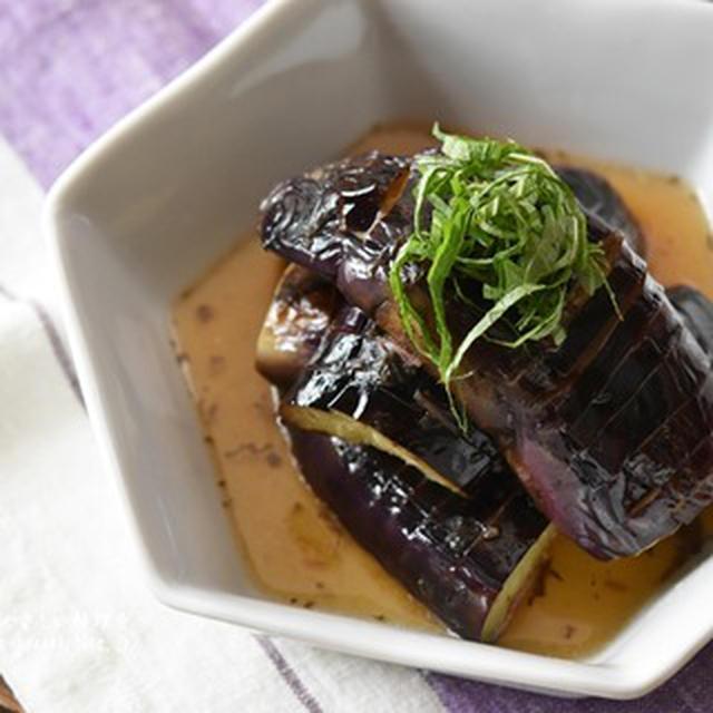 【レシピ・副菜・作り置き】夏バテ予防に!梅風味!とろとろなすの揚げ焼き浸し