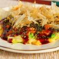 白菜消費・お好みソースまでレシピあり【白菜とネギの米粉お好み焼き】