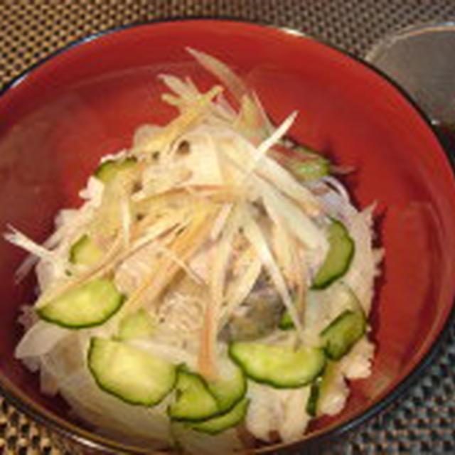さば水煮と新生姜のさっぱりたっぷりご飯!