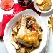 【ヤマサ×金魚11月のレシピ08】旨だれがけ♪鶏肉ときのこのごちそうグリル
