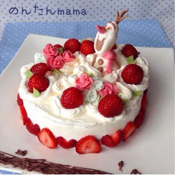 【簡単!自由自在】マシュマロでケーキ用の飾り♪ひな祭りにも