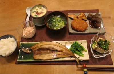秋刀魚やたこや桜エビ~和の晩ご飯 と クリスマスローズの成長♪