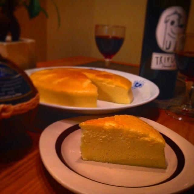 ★レシピ★しゅわしゅわ〜♡米粉のスフレチーズケーキ