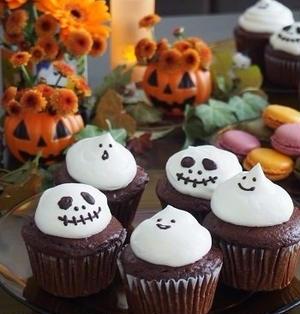 ハロウィン♪ おばけ&ジャックのカップケーキ