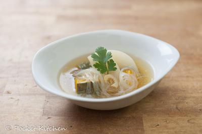 カボチャとカブのスープ