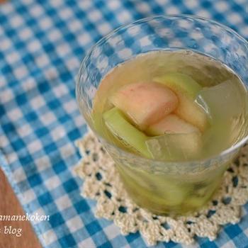 桃とキウイとアロエのビネガーウォーター