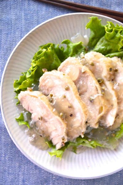 #521 鶏肉の冷製山椒蒸し