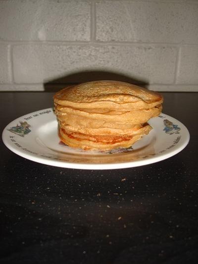 おからパンケーキを焼きましたよ(^^♪