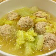 やわらか肉団子と白菜のスープ
