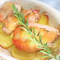 揉んで焼くだけ♪お家ビストロ。鶏とじゃが芋のオーブン焼き。『ローズマリーチキン&ポテト』