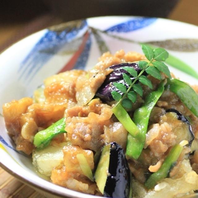 揚げ豆腐☆筍と肉味噌かけ