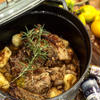 ロースト豚スネ肉のバターソース