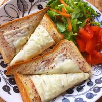朝ごパン♪簡単しそ梅チーズトースト