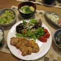"""豚肉の味噌漬け&""""無限キャベツ""""の晩ご飯 と アロニア・チョコベリーの花♪"""