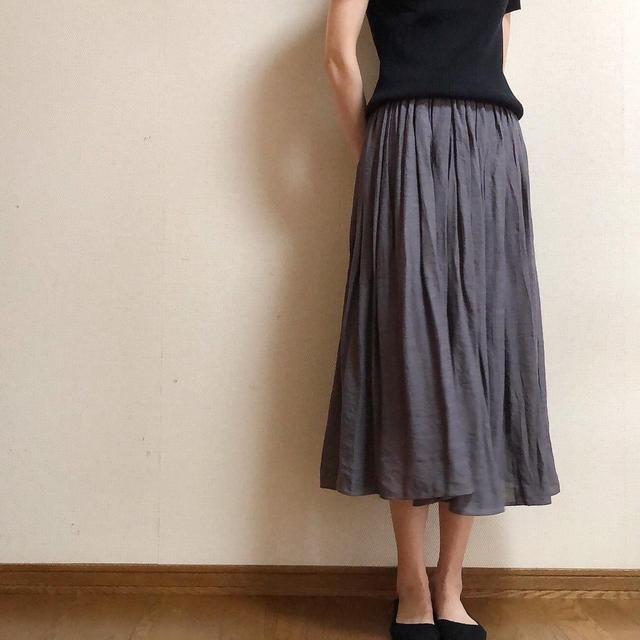 ニッセン ふんわり軽い楊柳スカート
