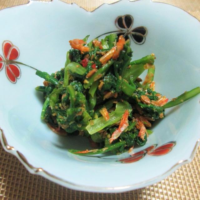 栄養豊富!簡単!菊菜(春菊)のローストアマニ和え