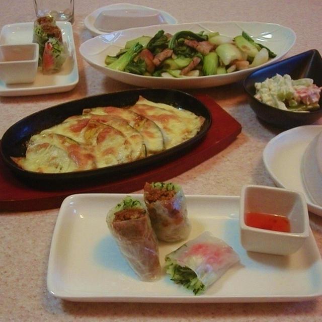 青梗菜と豚ロースのオイスターソース炒め