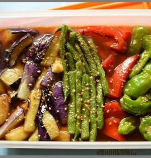 夏野菜の揚げ浸し 生姜風味