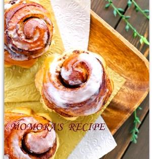 ホットケーキミックスで簡単お菓子な パン♪ふんわりシナモンロール♡色々な掲載お礼