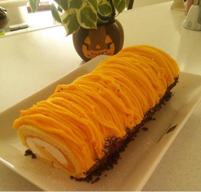 かぼちゃのモンブランロールケーキ♡兵庫県香美町へ