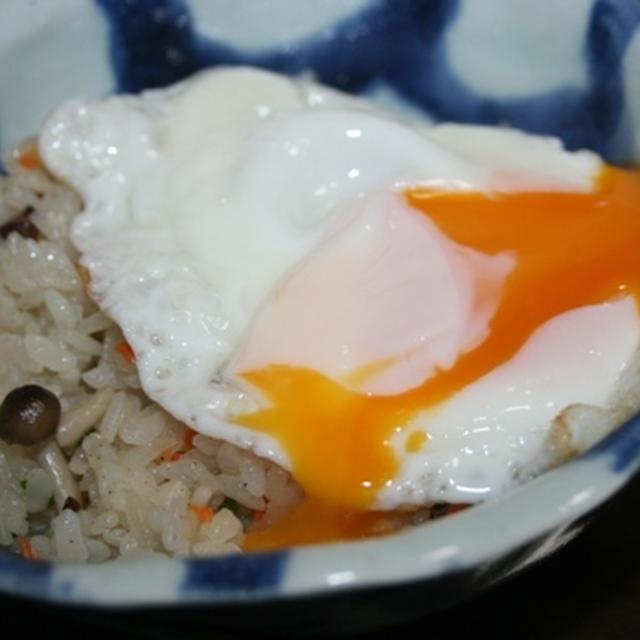 11月21日  炒飯の半熟玉子のっけ