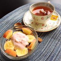 身体が喜ぶ簡単朝食ミューズリー+リプトンイエローラベル紅茶