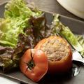 子供と一緒に・トマトの肉詰め ホットクック・せいろ蒸しレシピ