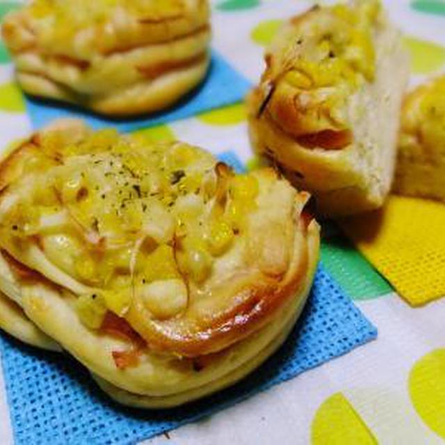 コーンマヨチーズのハムロール♪