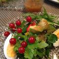 梅とオリーブオイルのソース