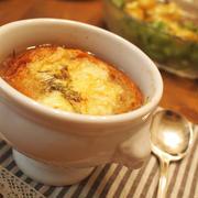 フレッシュな甘さたっぷり☆新玉ねぎのオニオングラタンスープ(レシピ付)。