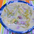 100皿シチュー 47皿目 砂肝と山菜のクリームシチュー