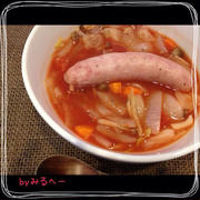 レンジでチン☆一日分のお野菜スープ