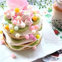 幸せ色のふんわりホットケーキ