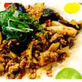 茄子とシメジ・ひき肉 甘辛キムチ炒め