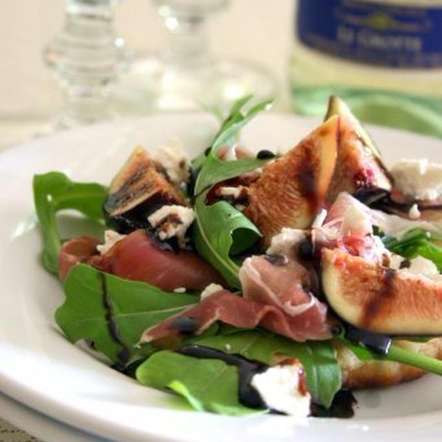 Fig and Prosciutto Salad on Flatbreadフラットブレッドのいちじくサラダのせ