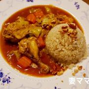 アーモンドがけチキンとキャベツのカレー♪ Chicken & Caggage Curry