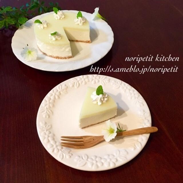 火を使わず♡超〜簡単♡kiriとヨーグルトdeメロンカルピスレアチーズ♡と美味しい香りがぁーw