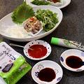 韓国の海鮮居酒屋さん風おつまみと、韓国風つぶ貝の和えそうめん