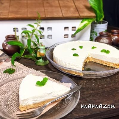 水切りヨーグルトと柚子ジャムで簡単チーズケーキ~