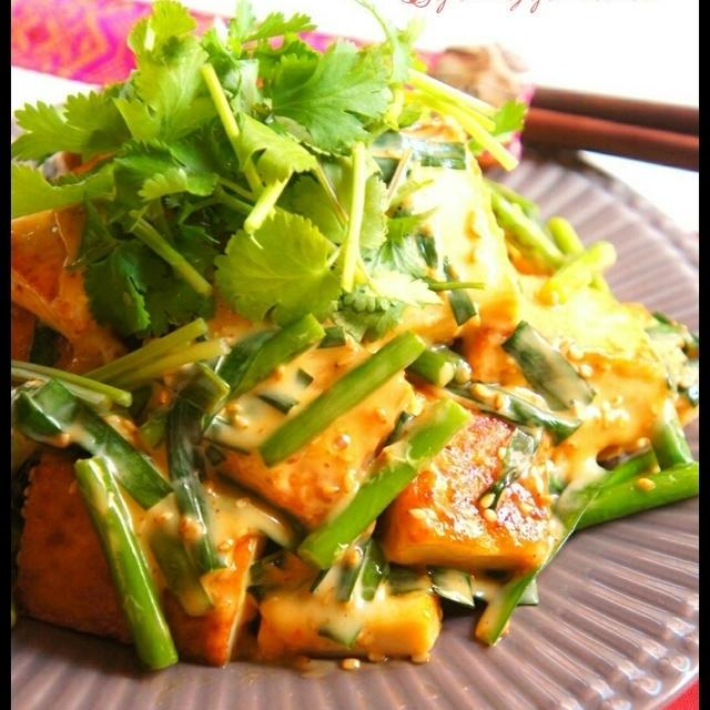 簡単アジアン料理!【家にある調味料で】厚揚げのスイチリマヨ風