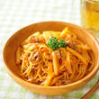 しゃきしゃき白菜と豚肉のクリーミーナポリタン